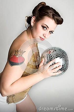 Sexy disco girl