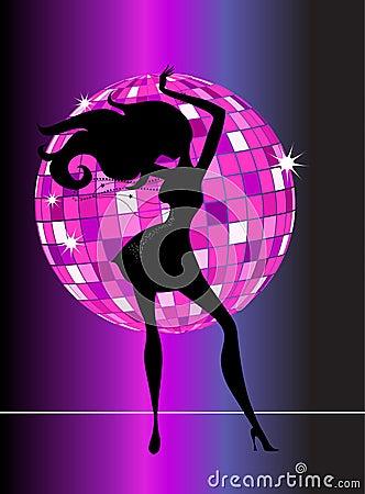Sexy disco party girl - 2