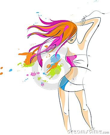 Sexy disco party girl - 5
