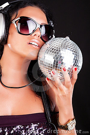 Sexy DJ is posing