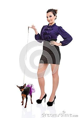 Sexy dog lady