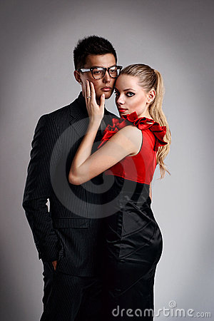 Sexy fashion couple