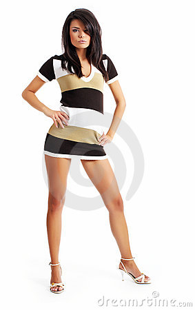 Free Sexy Fashion Girl Isolated On White Stock Photos - 7380373