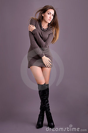 Sexy Fashion Model with Boots