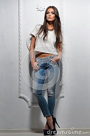 Free Sexy Fashion Model Woman Posing Royalty Free Stock Photos - 40772938