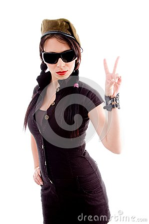 Sexy fashionable woman in mini skirt