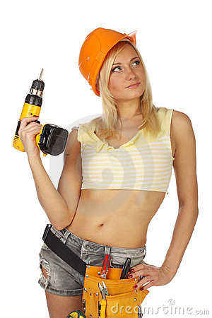 Sexy  female construction worker