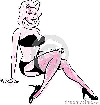 Sexy female illustration