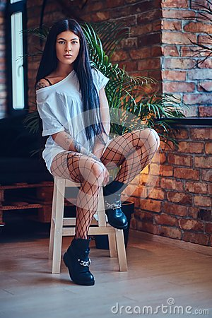 Free Sexy Female In A Mesh Stockings. Royalty Free Stock Photos - 102631688