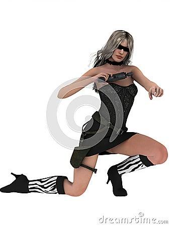 Sexy female spy