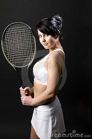 Sexy female tennis player young