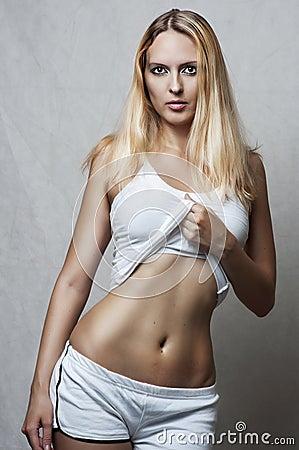 Sexy female underwear model.