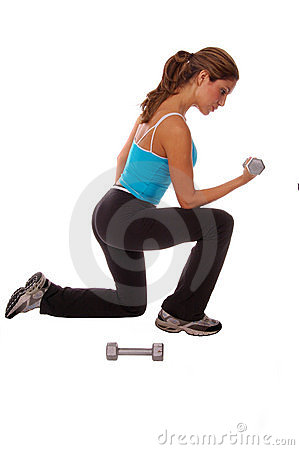 Free Sexy Free Weight Workout Royalty Free Stock Photo - 246175