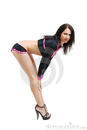 Sexy girl bending