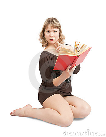 Sexy girl with book