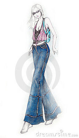 Sexy Girl Fashion Illustration