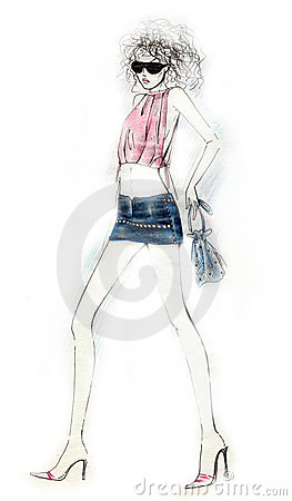 Sexy Girl Fashion Illustraton