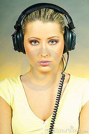 Sexy Girl with headphones