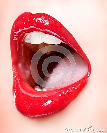 Sexy girl lips