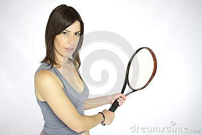 Sexy girl playing tennis