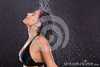 Girl water splashes