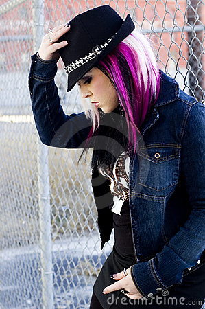 Sexy Girl Punk Fashion Model