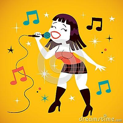 Sexy girl singing
