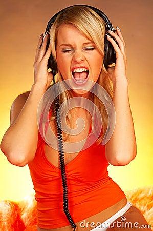 Free Sexy Girl With Headphones Stock Photos - 511563