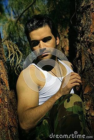 Free Sexy Guy In Tree Royalty Free Stock Photo - 14763955