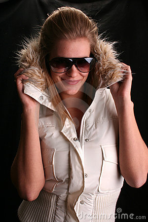 Free Sexy Hannah In Ski Jacket Royalty Free Stock Image - 698426
