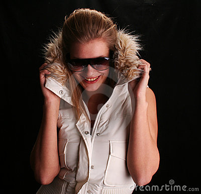 Free Sexy Hannah In Ski Jacket Royalty Free Stock Photography - 698427