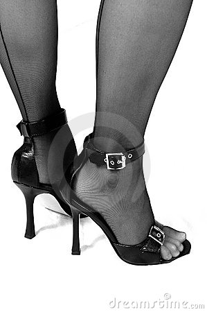 Sexy Heels and Stockings B&W