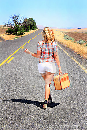 Free Sexy Hitch Hiker Thumbing It Royalty Free Stock Images - 38817849