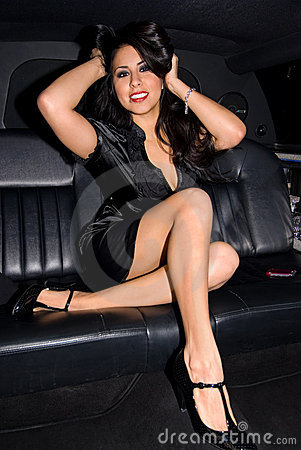 Sexy Latina In Limo Royalty Free Stock Photography