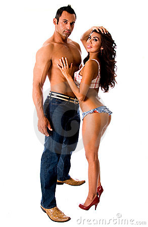 Sexy Latino couple.