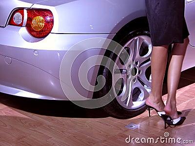 Sexy legs & car