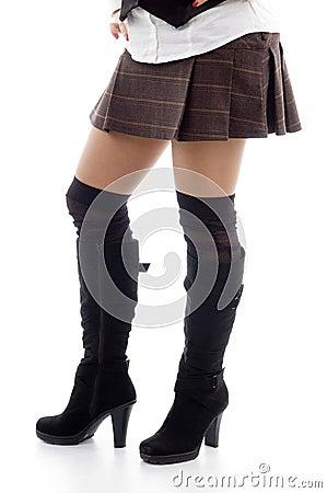 Sexy legs of  caucasian model
