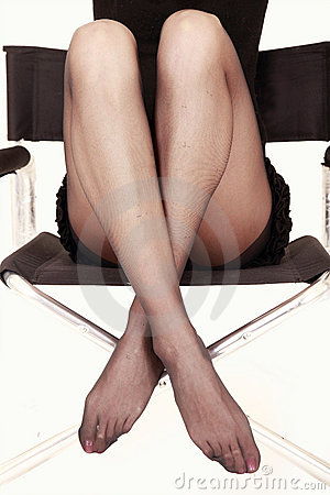 Sexy legs in chair