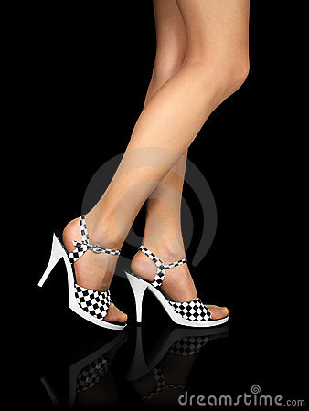 Sexy legs with high heels shoes (+clipping path)
