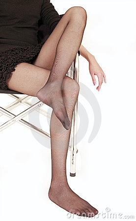 Sexy legs in pantyhose