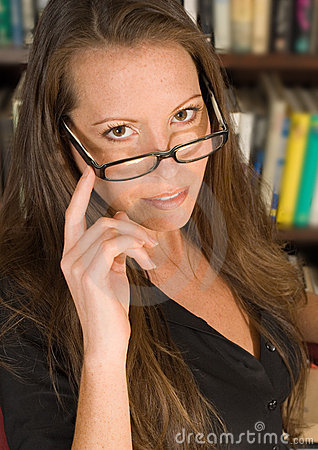 Sexy Librarian with Eyeglasses