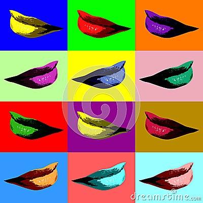 Sexy lips pop art