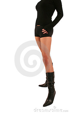 Free Sexy Little Black Boots Hannah Royalty Free Stock Photos - 741858
