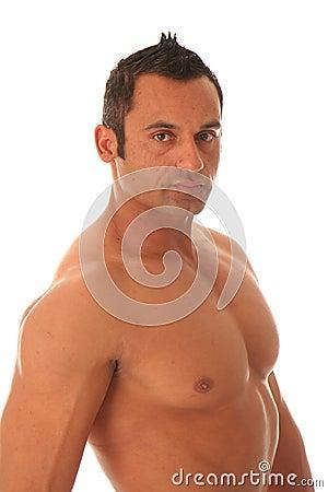 Sexy male muscular model