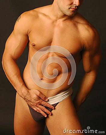Sexy male in underwear