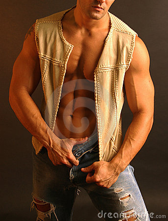 Sexy male in vest