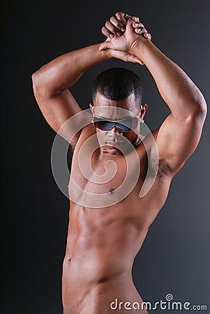 Sexy man dancing.
