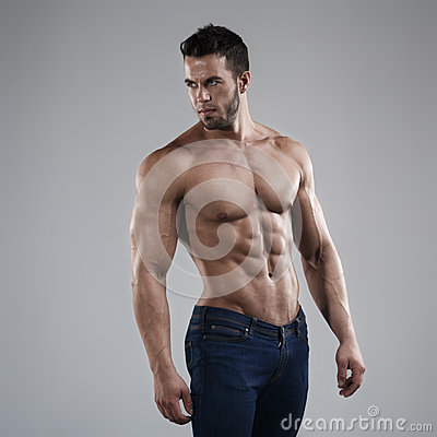 Free Sexy Man In Studio Royalty Free Stock Photo - 38920035