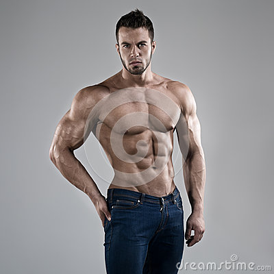 Free Sexy Man In Studio Royalty Free Stock Image - 38920056