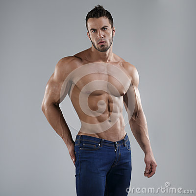 Free Sexy Man In Studio Royalty Free Stock Photo - 41871165